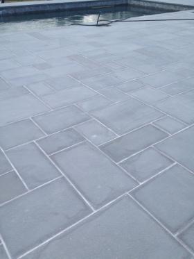 Bluestone Thermal As Patio And Stoop With Bluestone Treads. Bluestone  Pattern